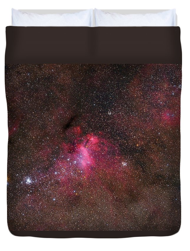 Horizontal Duvet Cover featuring the photograph The False Comet Cluster In Scorpius by Lorand Fenyes