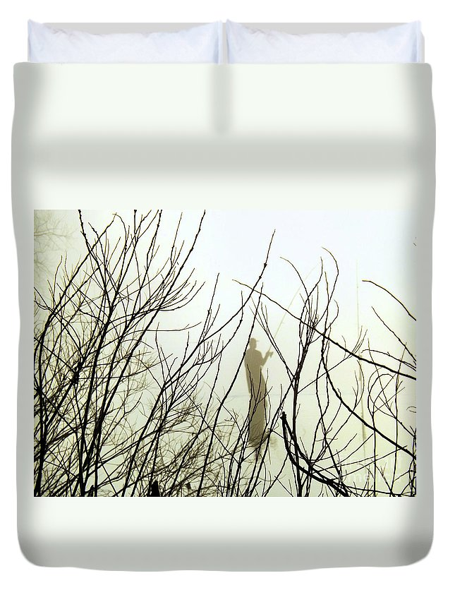 Fisherman Duvet Cover featuring the photograph The Fisherman by Robyn King