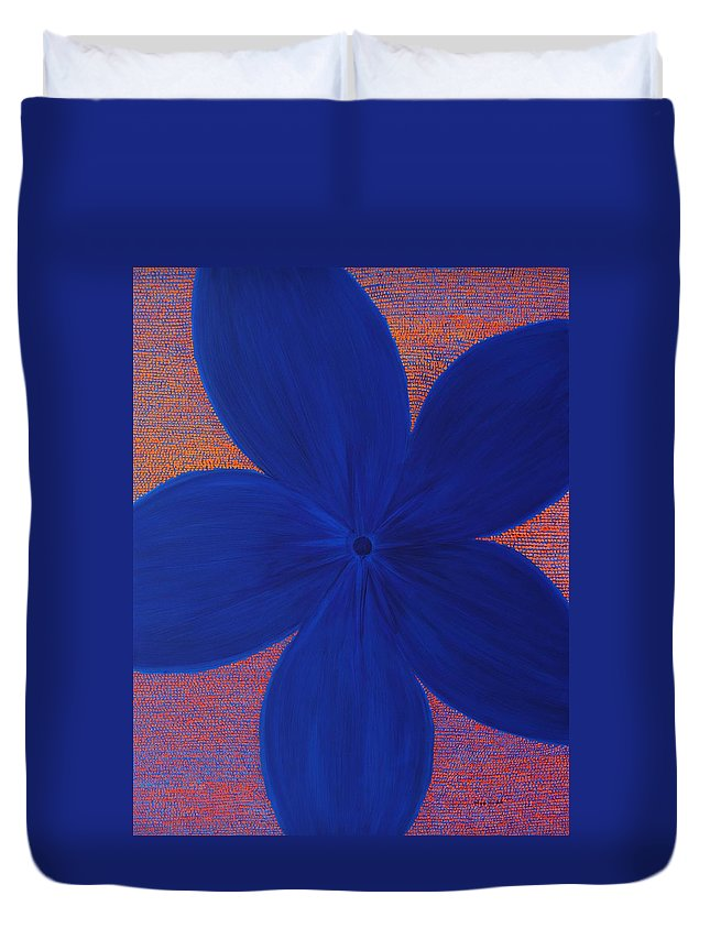 Flower Duvet Cover featuring the painting The Flower by Kyung Hee Hogg
