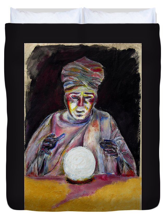 Fortune Tellers Duvet Cover featuring the painting The Fortune Teller by Tom Conway