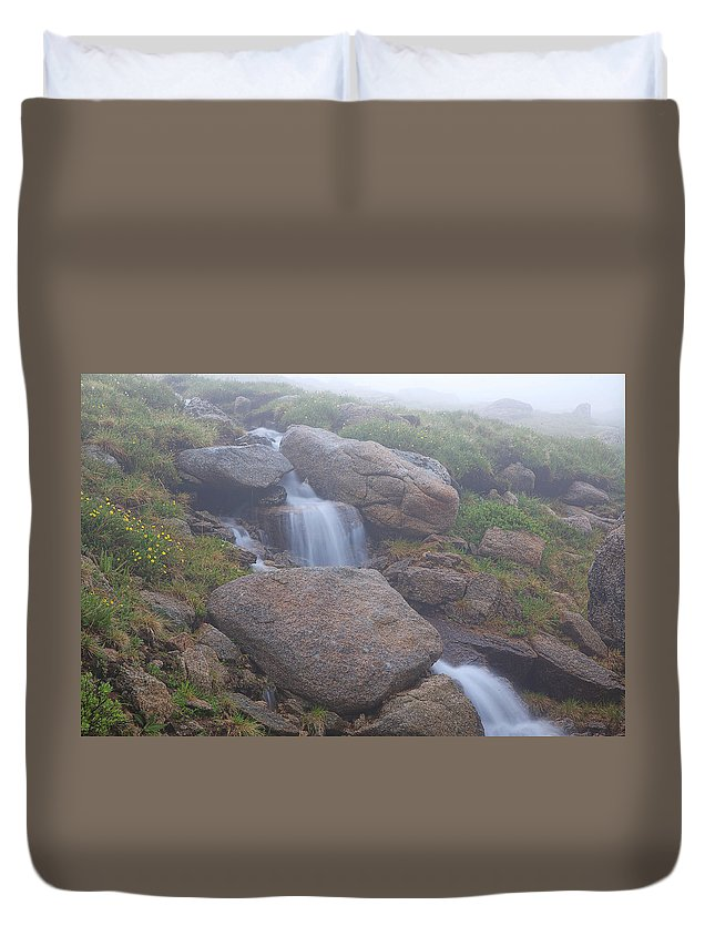 Mt. Evans Photograph Duvet Cover featuring the photograph The Fountain by Jim Garrison
