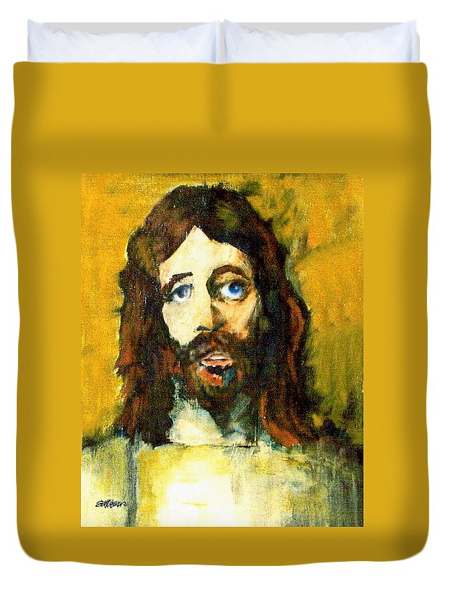 Jesus Christ Duvet Cover featuring the painting The Galilean by Seth Weaver