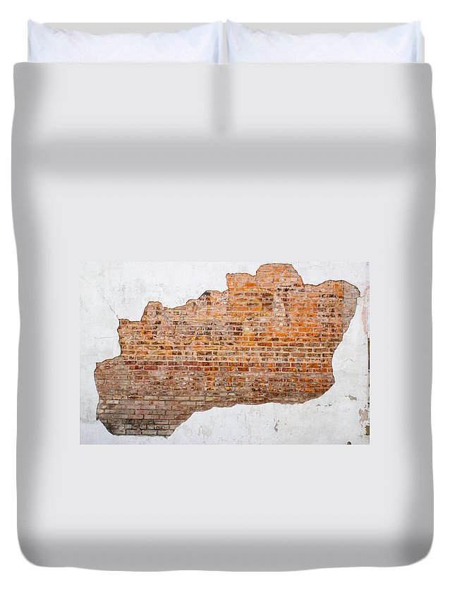 Ghost Duvet Cover featuring the photograph The Ghost Behind The Wall by Douglas Barnett