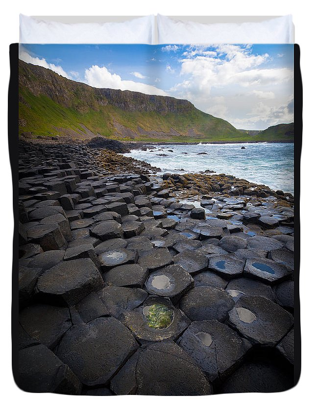 Europe Duvet Cover featuring the photograph The Giant's Causeway - Staircase by Inge Johnsson