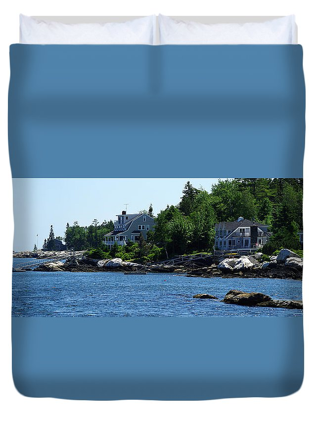 Maine Duvet Cover featuring the photograph The Good Life by Gary Benson