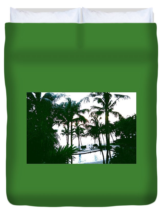 Palm Trees Duvet Cover featuring the photograph The Good Life by Suzanne Berthier