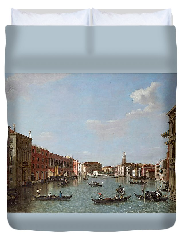 Architecture Duvet Cover featuring the photograph The Grand Canal And San Geremia, Venice, 18th Century by William James