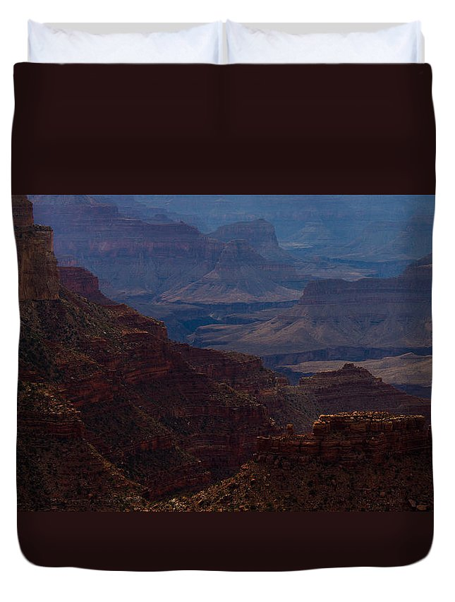 Colorful Duvet Cover featuring the photograph The Great Abyss by Kathleen Odenthal