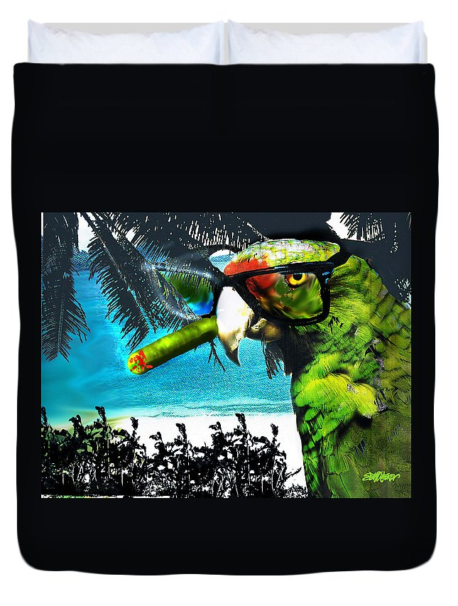 The Great Bird Of Casablanca Duvet Cover featuring the digital art The Great Bird Of Casablanca by Seth Weaver