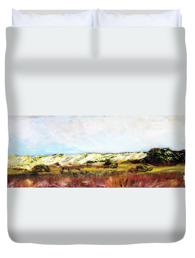 Nature Duvet Cover featuring the painting Behind The Surge by Michael Helfen