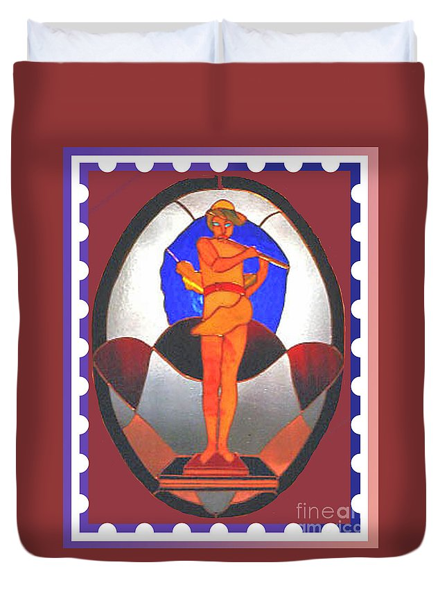 Greek God Duvet Cover featuring the photograph The Great God Pan Plays by Patricia Keller