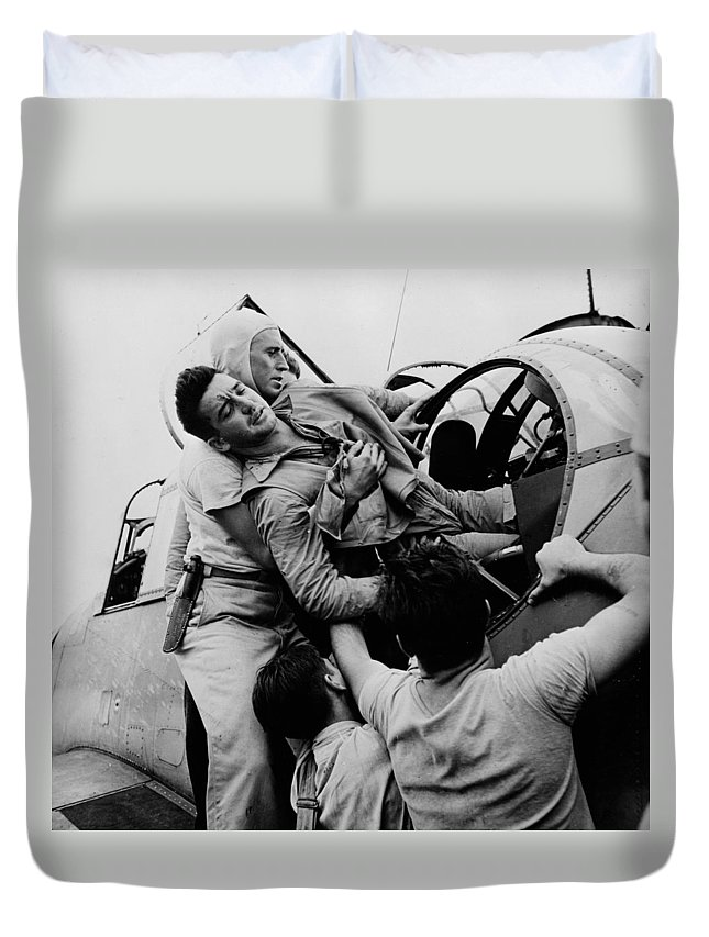 Man Duvet Cover featuring the photograph The Greatest Generation by Mountain Dreams
