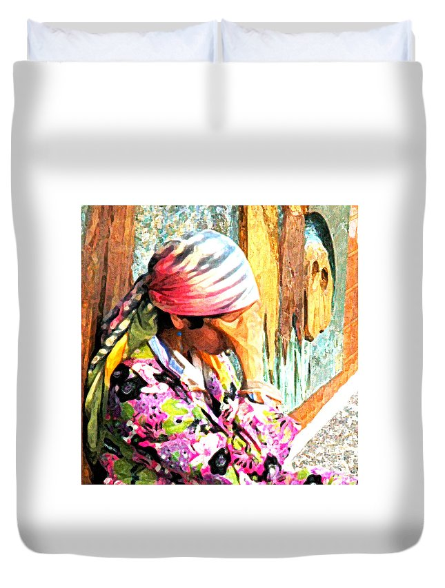 Gypsy Duvet Cover featuring the digital art The Gypsy by Norman Johnson