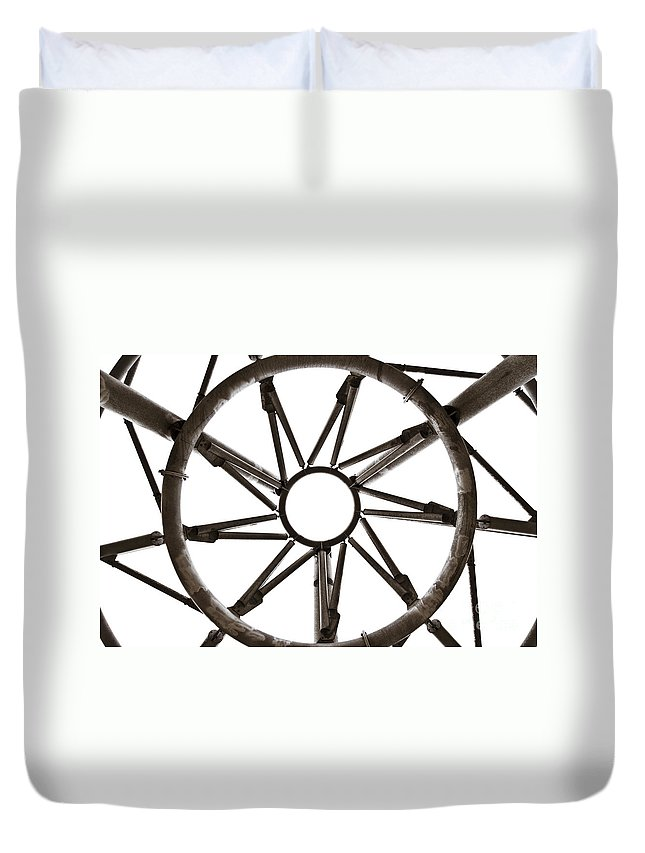 Europe Duvet Cover featuring the photograph The Halo Panopticon In Lancashire by Paul Adams