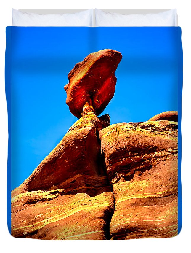 Panoramic Duvet Cover featuring the photograph The Head by Robert Bales