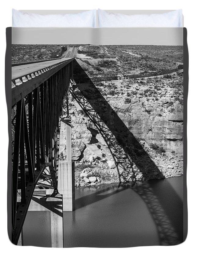 Landscape Duvet Cover featuring the photograph The High Bridge by Amber Kresge