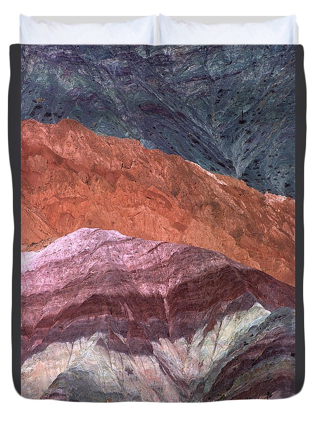 Argentina Duvet Cover featuring the photograph The Hill Of Seven Colors Argentina by James Brunker