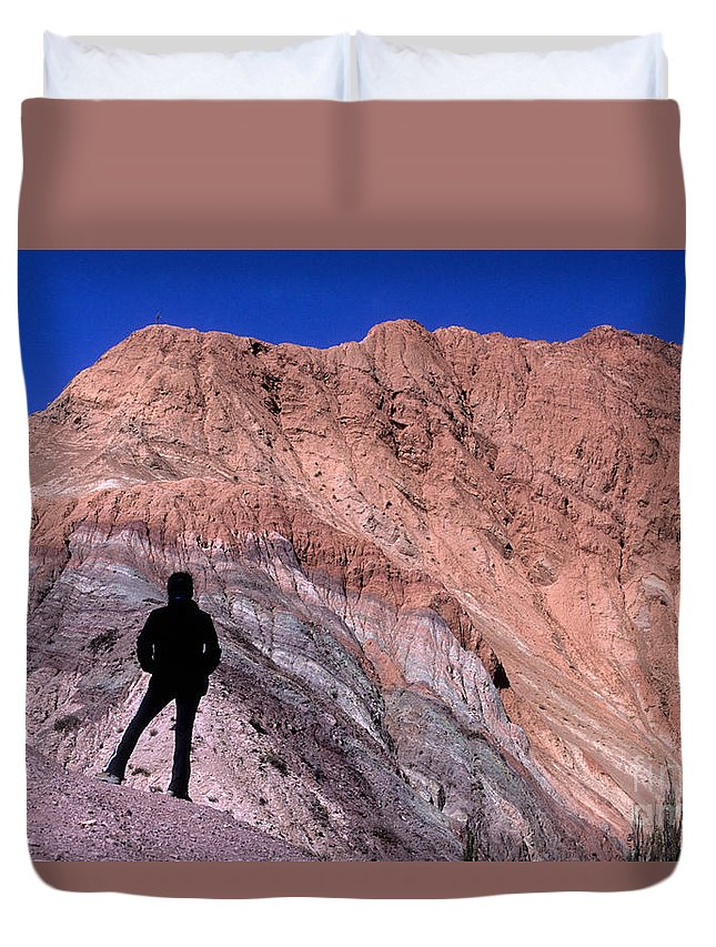 Argentina Duvet Cover featuring the photograph The Hill Of Seven Colours Jujuy Argentina by James Brunker