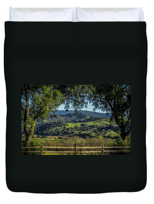 Hills Duvet Cover featuring the photograph The Hills by Ernie Echols