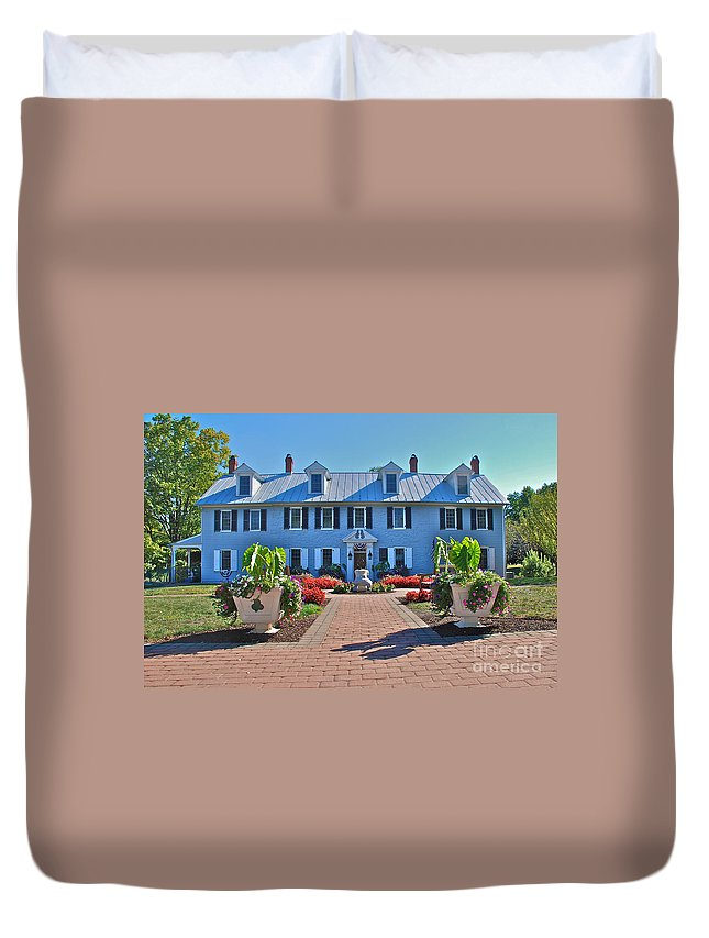 Birth Place Duvet Cover featuring the photograph The Homestead Birthplace Of Milton Hershey by Mark Dodd