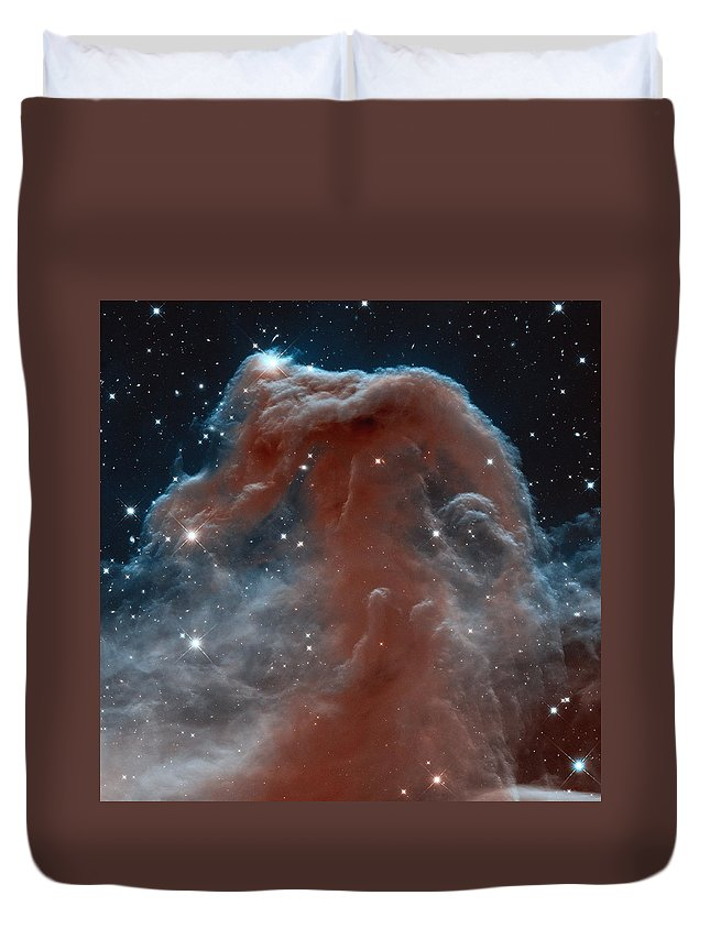 Horsehead Nebula Duvet Cover featuring the photograph The Horsehead Nebula by Nasa