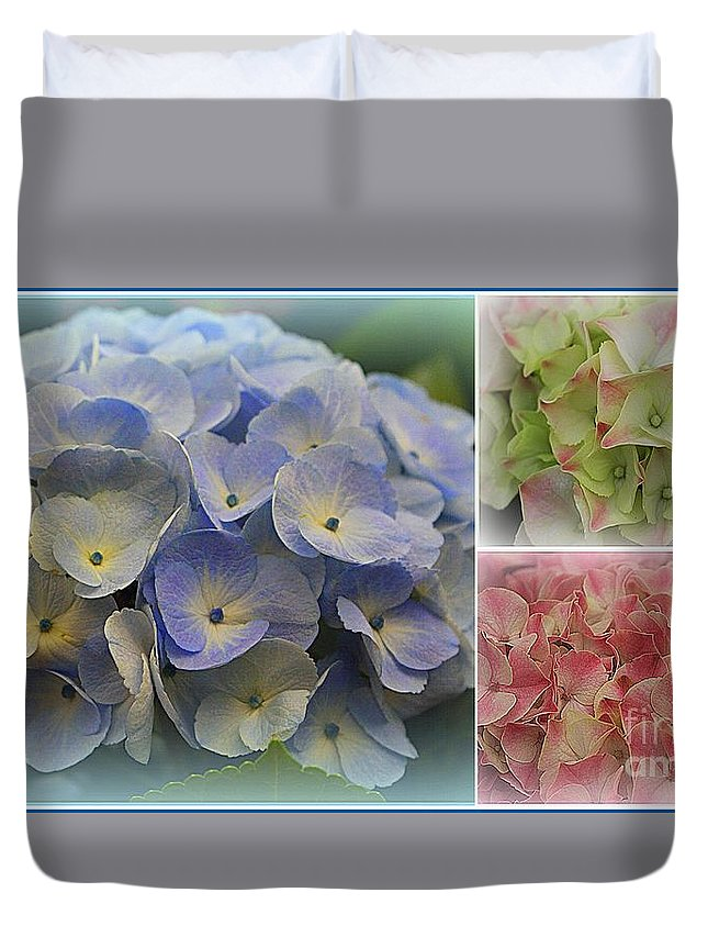 Hydrangeas Duvet Cover featuring the photograph The Hydrangeas Of Late Spring by Dora Sofia Caputo Photographic Design and Fine Art