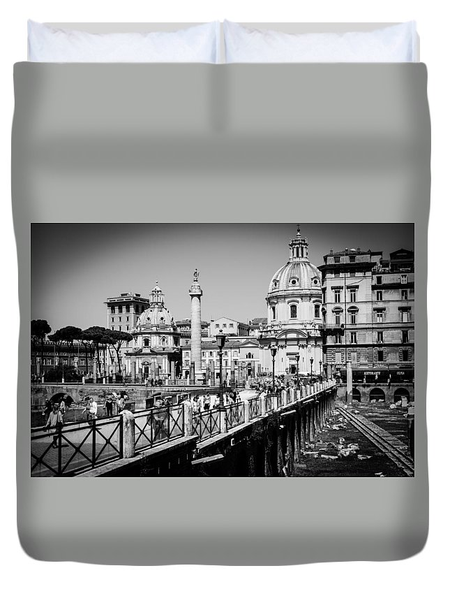 Rome Duvet Cover featuring the photograph The Imperial Fora by Andrea Mazzocchetti