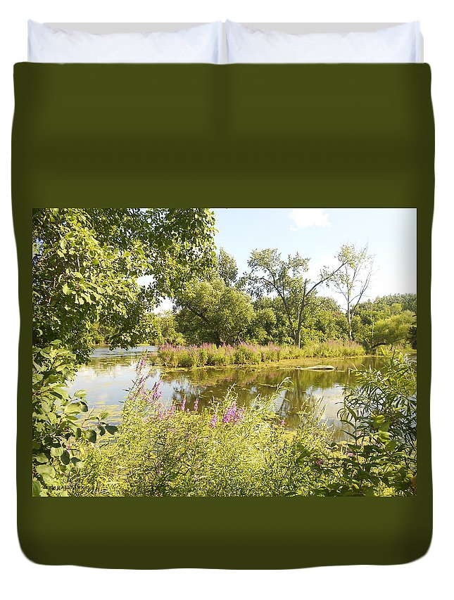 Indiana Duvet Cover featuring the photograph The Indiana Wetlands 2 by Verana Stark