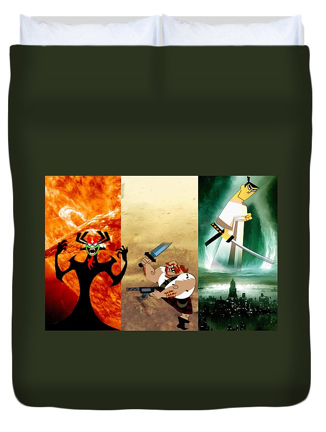 Samaria Duvet Cover featuring the digital art The Jack by Edward Cormier Jr