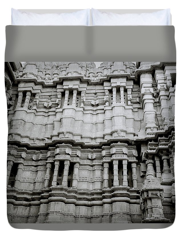 India Duvet Cover featuring the photograph The Jain Temple by Shaun Higson