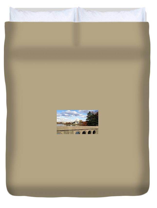 Jefferson Memorial Duvet Cover featuring the photograph The Jefferson Memorial by Lois Ivancin Tavaf