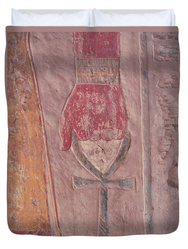 Egypt Duvet Cover featuring the photograph The Key Of Life.. by A Rey