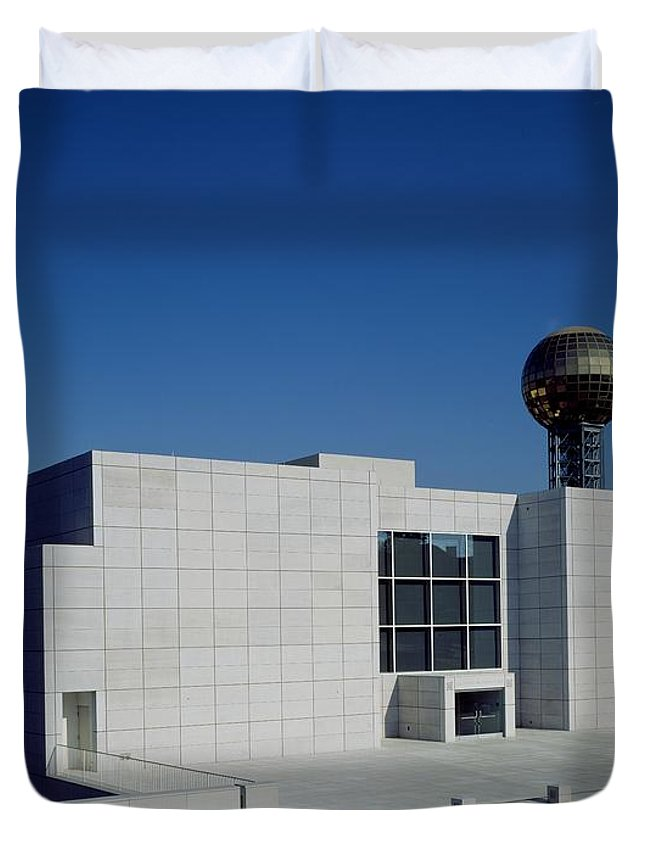 Knoxville Duvet Cover featuring the photograph The Knoxville Museum Of Art by Mountain Dreams