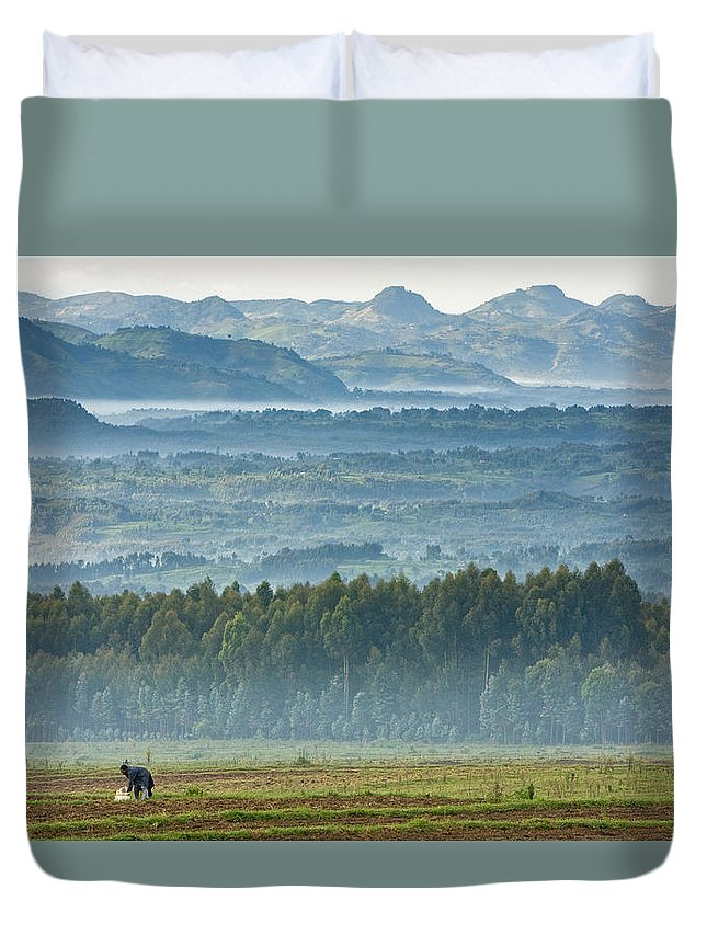 Rwanda Duvet Cover featuring the photograph The Land Of A Thousand Hills by Max Waugh