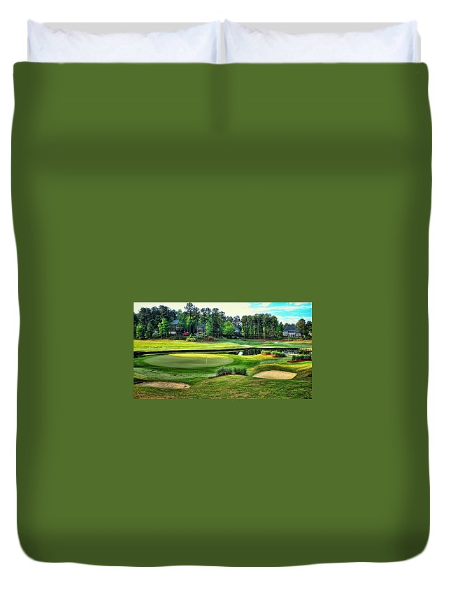 Best Golf Duvet Cover featuring the photograph The Landing At Reynolds Plantation by Reid Callaway