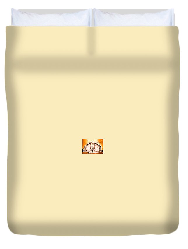 Life Saver Duvet Cover featuring the photograph The Life Saver Building by Christy Gendalia