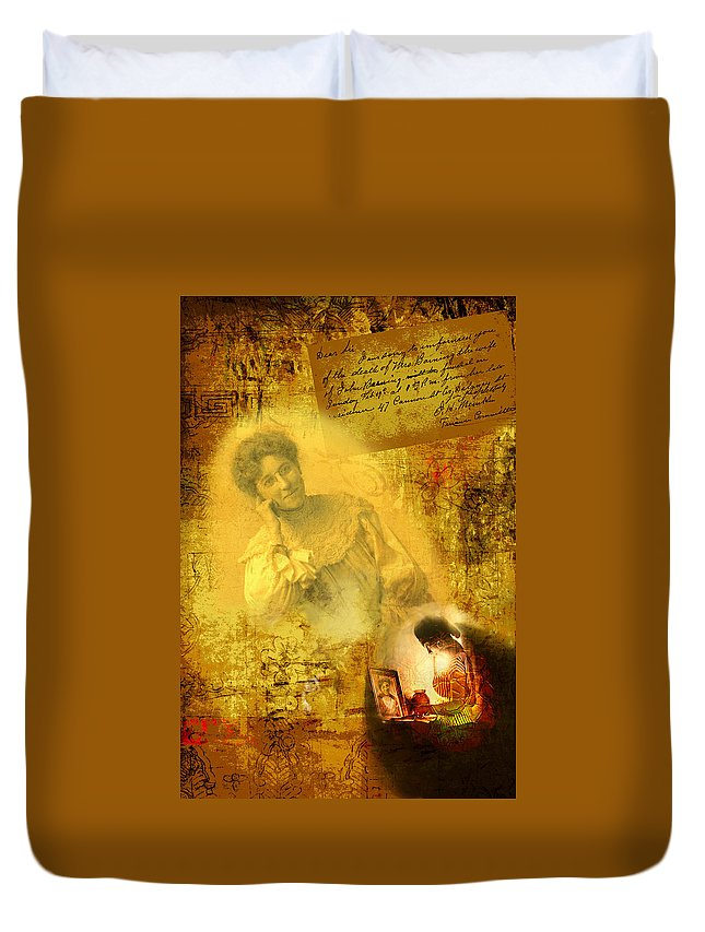 Death Duvet Cover featuring the digital art The Light Inside The Dead by Lisa Yount