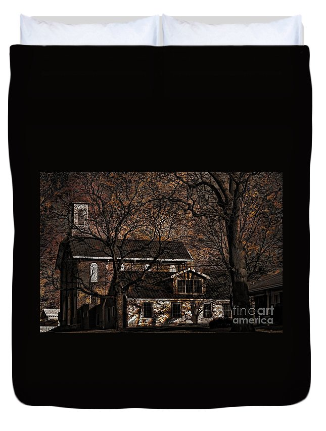 The Lights Went Out In Platte Duvet Cover featuring the photograph The Lights Went Out In Platte by Liane Wright