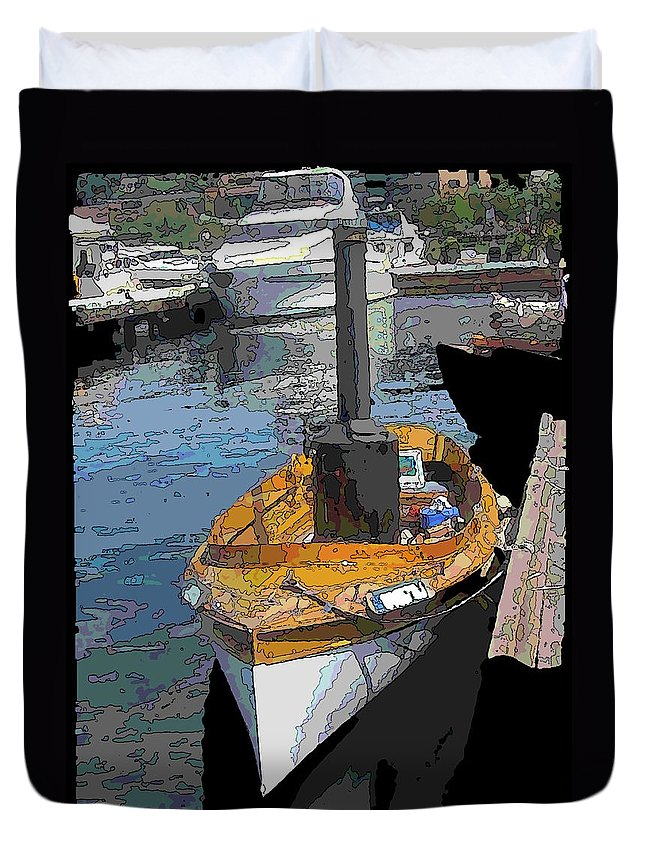 Steam Duvet Cover featuring the digital art The Little Steamboat That Could by Tim Allen