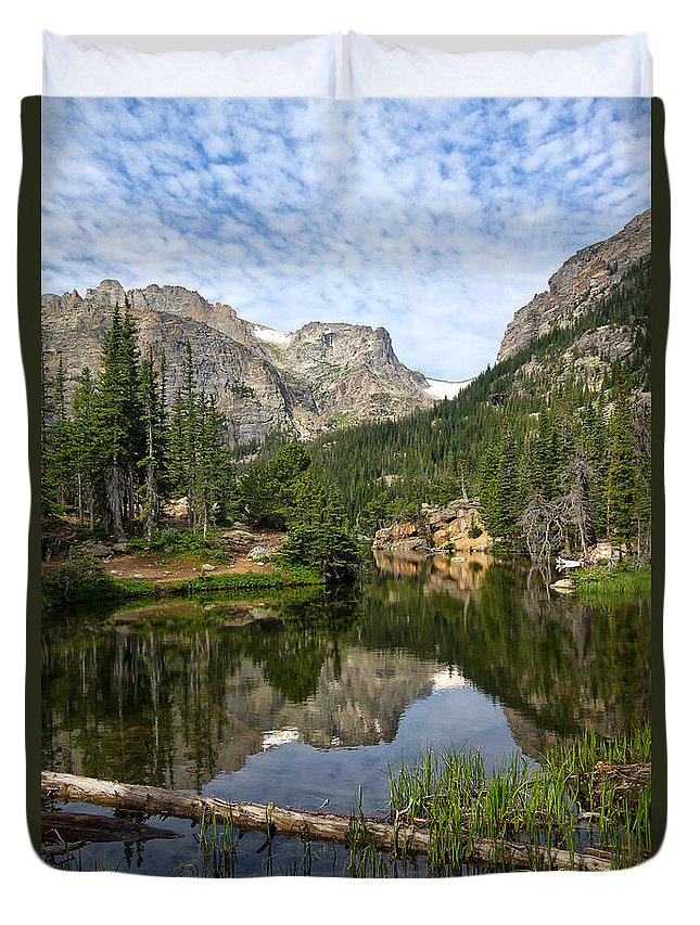 The Loch Duvet Cover featuring the photograph The Loch - Rocky Mountain National Park by Ronda Kimbrow