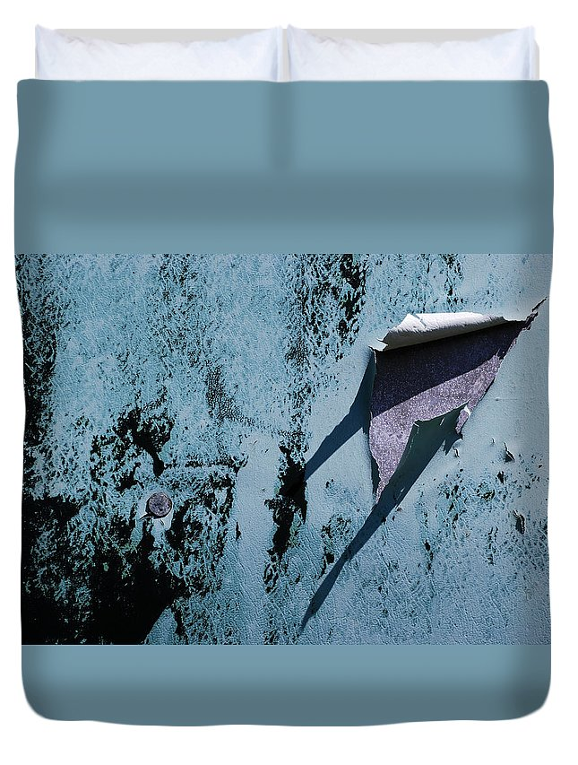 Old Duvet Cover featuring the photograph The Long Shadow by Wendy Wilton