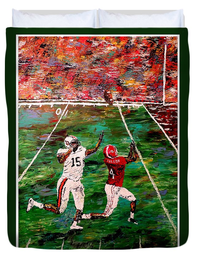 Alabama Duvet Cover featuring the painting The Longest Yard Named by Mark Moore
