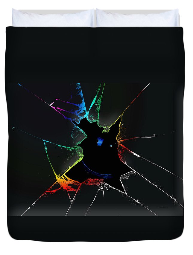 Glass Duvet Cover featuring the digital art The Looking Glass by Robert Orinski
