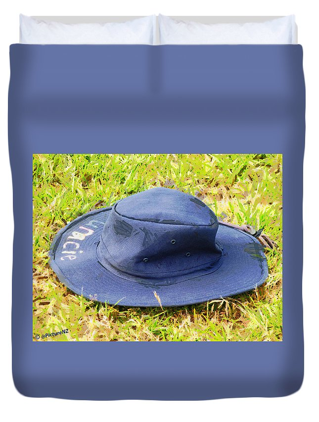 Lost Duvet Cover featuring the photograph The Lost Hat by Steve Taylor