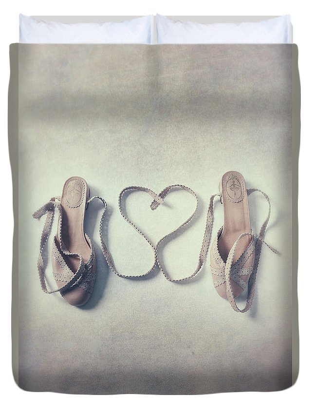 Pair Duvet Cover featuring the photograph The Love Of A Ballerina by Joana Kruse