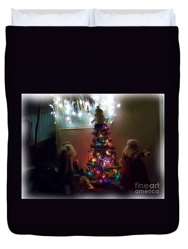 Duvet Cover featuring the photograph The Magical Tree by Kelly Awad