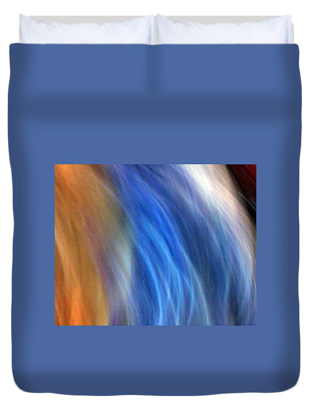 Colors Duvet Cover featuring the photograph The Man With Scissor by Munir Alawi