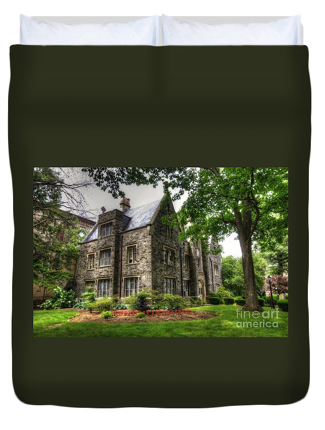 Convent Duvet Cover featuring the photograph The Manor by Traci Law