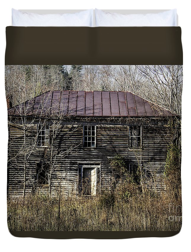 Abandoned Duvet Cover featuring the photograph The Mansion by Teresa Mucha