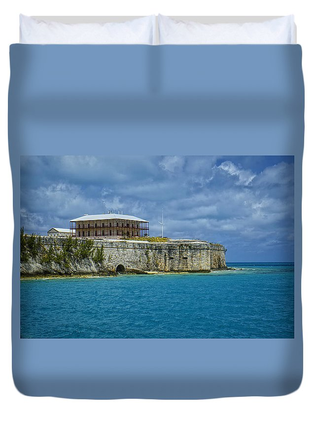 Water Duvet Cover featuring the photograph The Maritime Museum by Lucinda Walter